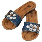 Ladies Vegan Leather Flip Flop Sandals Shoe 36, 37, 38, 39, 40 Slippers Summer