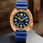 San Martin Bronze 6105 diving watches men's automatic wrist watches NH35 rubber  image