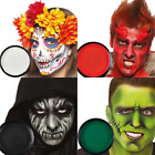 Grease Based Theatre Face & Body Paint Make Up Green Black White Red 14g