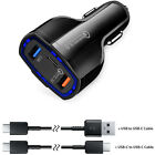 Samsung Galaxy Note8 10 S8 S9 S10 USB Fast Quick Car Charger Adapter Type C Port