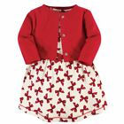 Touched By Nature Girl Organic Cotton Dress and Cardigan Set, Bows