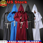 S-L Christian Coat Priest Robe Monk Puppet Halloween Party Costume Cosplay Cloak