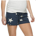 A Glow: Maternity Lounge Shorts Full Belly Panel in 4 Colors Sizes: S, M, L, XL