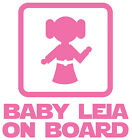 Star Wars Baby Leia On Board Vinyl Decal Sticker for Car Van Laptop Tablet Wall $5.21 AUD on eBay