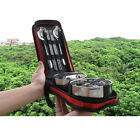 FixedPriceportable reusable stainless steel travel tableware set camping with case