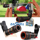 US Clip-on 8x 12x 14x Optical Zoom HD Telescope Camera Lens For iPhone XR 8 7 6S