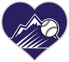 "Colorado Rockies Heart Logo MLB Baseball Sport Car Bumper Sticker Decal ''SIZES"" on Ebay"