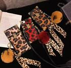 Luxury red Leopard Leather Strap fur ball phone Case Cover iPhone 11promax 11 xr $8.99 USD on eBay