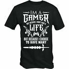 I'm A Gamer I Choose To Have Many Lives T Shirt Funny Gaming Gift Video Classic