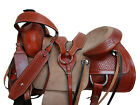 17 15 16 PREMIUM TOOLED RODEO SHOW WESTERN SADDLE ROPING ROPER RANCH TACK SET