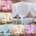 Romantic 4 Corners Netting Canopy Bed Curtain Lace Mosquito Net Anti Insect image