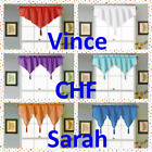 1PC FAUX SILK SEMI SHEER ASCOT WINDOW VALANCE KITCHEN RESTAURANT SALON DECOR