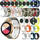 For Samsung Galaxy Watch 42mm Active 2 40mm 44mm Sport Watch Band Silicone Strap image