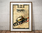 Triumph Motorcycle 1972 Handbook POSTER! (Full-size 24x36 or smaller) - Vintage $28.0 USD on eBay