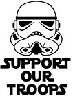 Star Wars Support Our Troops Vinyl Decal Sticker Car Van Laptop $10.64 AUD on eBay