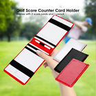 PU Golf Score Counter Keeper Card Holder Sports Accessories with Pencil Gifts