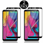 LG Stylo 4 5 Plus Stylo 3 Full Cover Tempered Glass Screen Protector Black/Clear