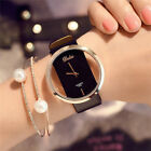Fashion Girl Women Classic Casual Quartz Watch Leather Strap Wrist Watches Gift image