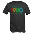 Vintage 1980 Aged to Perfection T-Shirt 40th Fortieth Birthday in 2020 Retro Tee image
