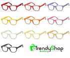 Glasses Frames Coloured Man Woman with Lenses Transparent Neutral CP173