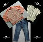 NWT 7 For All Mankind Girls 3 Piece Blue Jeans Set Size 24Months MSRP 79.00 NEW