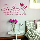 Sisters Are Like Flowers Vinyl Wall Quote Art Sticker Large Girls Room Decor X92