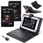 """US Universal Leather Case Cover Micro USB Keyboard For 7"""" 8"""" 9.6"""" 10"""" Tablet PC"""