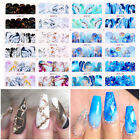 Snowflakes Marble Nail Water Decals Nail Art Transfers Stickers Decoration Tips