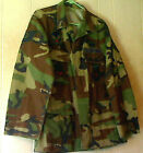 Vintage US Military Army Navy Marines BDU Woodland Camo Shirts Medium To Large