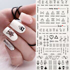 Nail Water Decals Geometric Design Tips Sticker Transfer Nail Art Decoration DIY