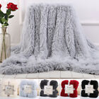 Flannel Soft Warm Long Shaggy Fuzzy Blanket Sofa Bedding Baby Throw Rug 5 Colors image