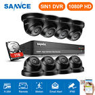 SANNCE Full 1080P 4CH/8CH DVR 2MP 100ft Night Vision Security Camera System APP