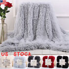 Large Soft Warm Bed Sofa Throw Over Blanket Sofa Fluffy Shaggy Cozy Bedspread US image