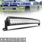 """32 Inch 180W Curved LED Light Bar Spot Flood Combo + Wiring Kit for TOYOTA 30"""""""