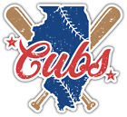 "Chicago Cubs Map MLB Baseball Sport Car Bumper Sticker Decal ''SIZES"" on Ebay"