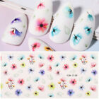 Nail Water Decals Transfer Stickers Colorful Flowers Nail Art Decoration Tips