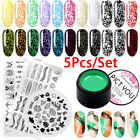 5pcs/set PICT YOU 5g Stamping Gel Polish Soak Off UV Gel Nail Stamping Plates