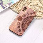 Natural Wood Carved Case Real Bamboo Vintage For iPhone 11 11 pro  TPU Cover