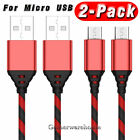 2-PACK For Samsung Galaxy J3 J7 S6 S7 Edge Note 5 4 Charger Micro USB Cable Cord