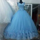 Princess Lace Applique Quinceanera Dresses Formal Prom Party Gown Sweet 15 Dress