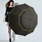 Golf Umbrella Automatic Open Extra Large Wind/Waterproof Double Canopy Vented UK