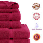 100% Cotton 6PC Bath Towel Set Luxury Hotel Quality Ultra Soft Highly Absorbent