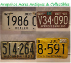 Vintage/Antique License Plates, Wisconsin Plates & Various Plates, 1919-1984
