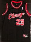1984 Rookie 23 Michael Jordan Mens BLACK Chicago Bulls Stitched Jersey