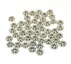 antiqued silver Tibetan style flower spacer beads 6mm