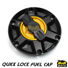 BLACK FCR 1/4 Quick Lock Gas Fuel Cap For Triumph Daytona 600 / 650 03 04 05 $52.92 USD on eBay