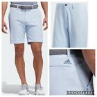 New Adidas Ultimate 365 9 inch inseam Mens Golf Shorts-Glow Blue- Multiple Sizes