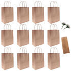 12x Kraft Paper Party Wedding Treat Bag with Handles Gift Calla Flower Loot Bags