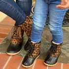 NEW  MOMMY DAUGHTER LEOPARD DUCK BOOTS BUNDLE. SIZE 5.5,6,6.5,7,7.5,8,8.5,9,10