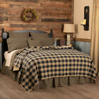 BLACK CHECK Primitive Farmhouse Quilt Sets - Choose Your Accessories image